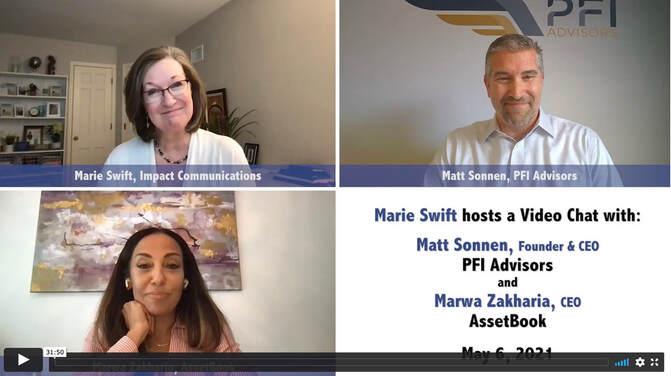 Swift Chat: Marwa Zakharia of  AssetBook & Matt Sonnen of PFI Advisors
